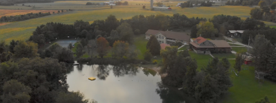 Aerial view of campground