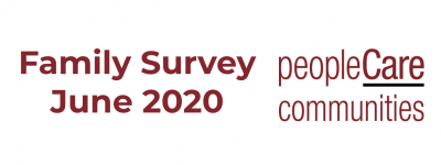 peopleCare Communities Family Survey June 2020