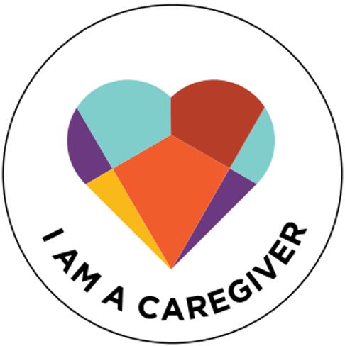 I am a caregiver heart badge