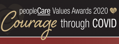 peopleCare Values Awards 2020 Courage through COVID banner