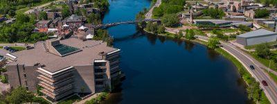 Trent University's Symons Campus on the banks of the Otonabee River