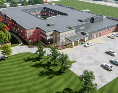 Exterior rendering of upcoming Meaford LTC redevelopment