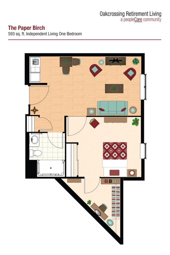 Oakcrossing Retirement Living Paper Birch floor plan