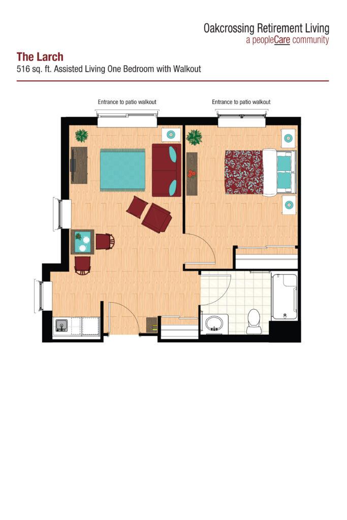 Oakcrossing Retirement Living Larch floor plan