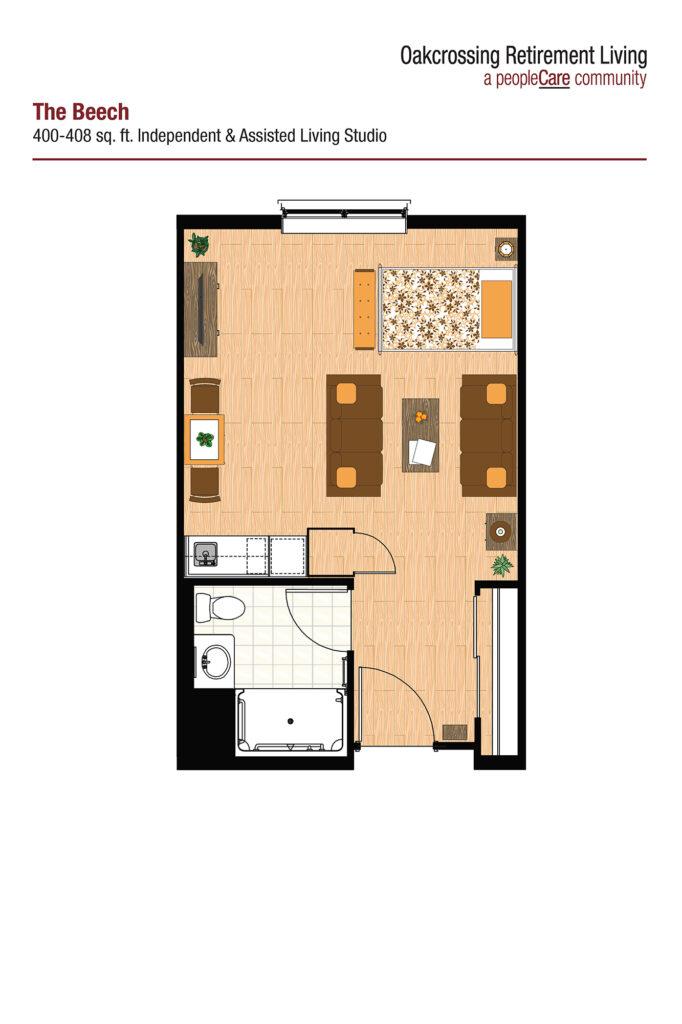 Oakcrossing Retirement Living Beech floor plan