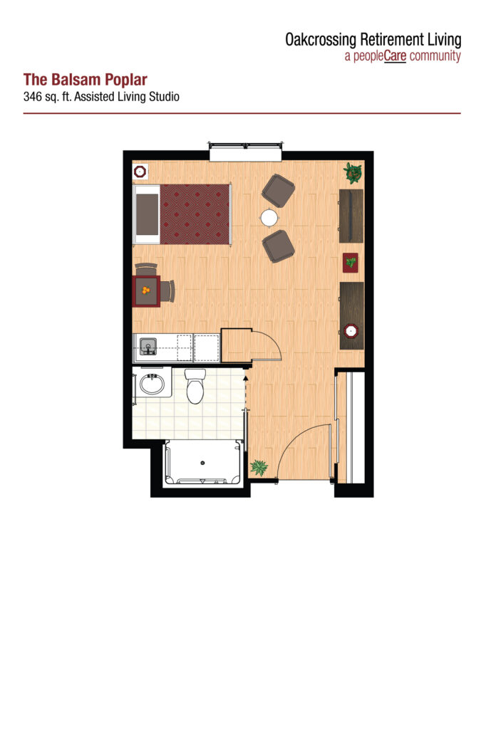 Oakcrossing Retirement Living Balsam Poplar floor plan