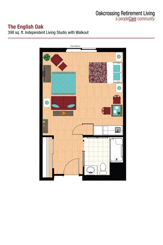 Oakcrossing Retirement Living English Oak floor plan