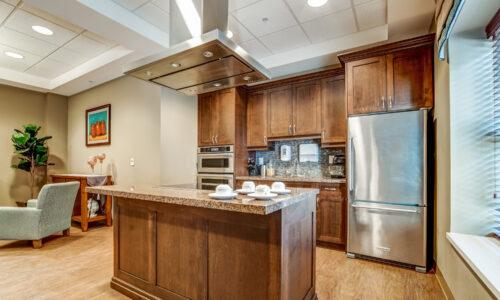 Shared kitchen at Oakcrossing Retirement Living