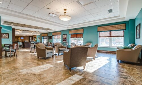 Cafe and seating area at Oakcrossing Retirement Living