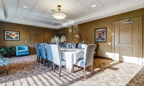 Private dining room at Oakcrossing Retirement Living