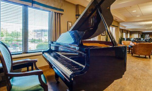 Grand piano at Oakcrossing Retirement Living