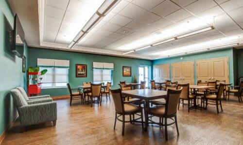 Seating area at Oakcrossing Retirement Living