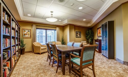 Library at Oakcrossing Retirement Living