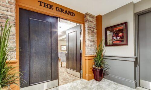 Doors of the Grand Theatre at Oakcrossing Retirement Living
