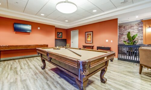 Billiards table in Blackfriars Pub at Oakcrossing Retirement Living