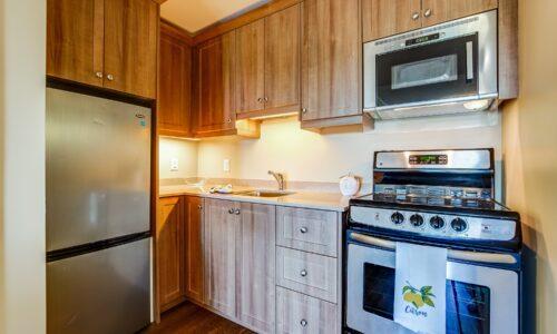Kitchen in suite at Oakcrossing Retirement Living